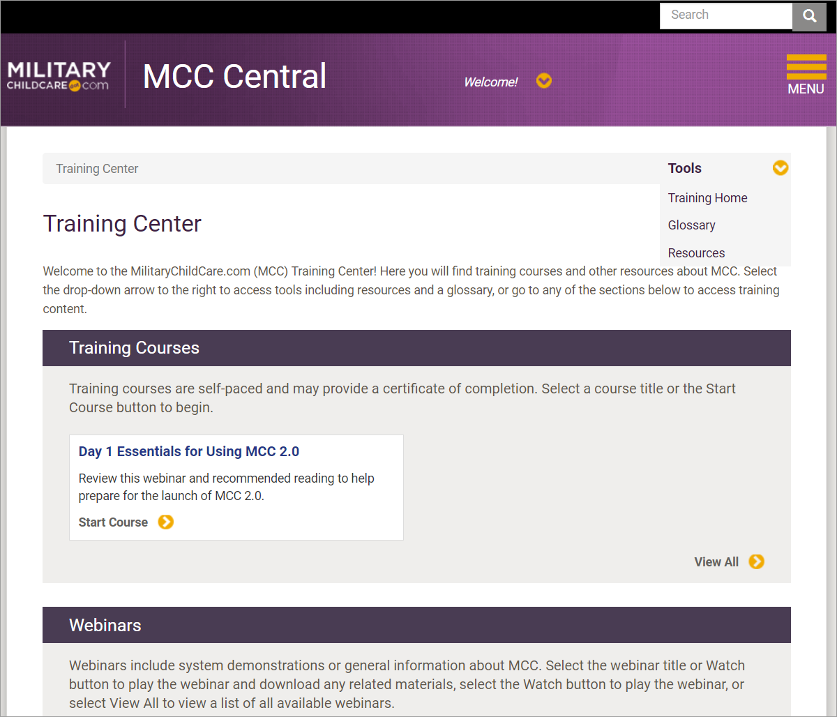MCC Central Training Center